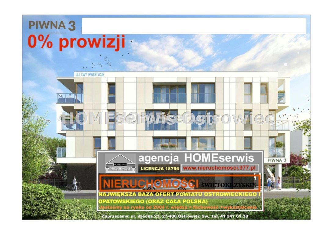 Mieszkanie trzypokojowe na sprzedaż Ostrowiec Świętokrzyski, Centrum  70m2 Foto 1
