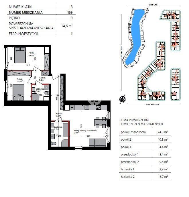 Mieszkanie trzypokojowe na sprzedaż Bydgoszcz, Szwederowo, Piękna  75m2 Foto 6