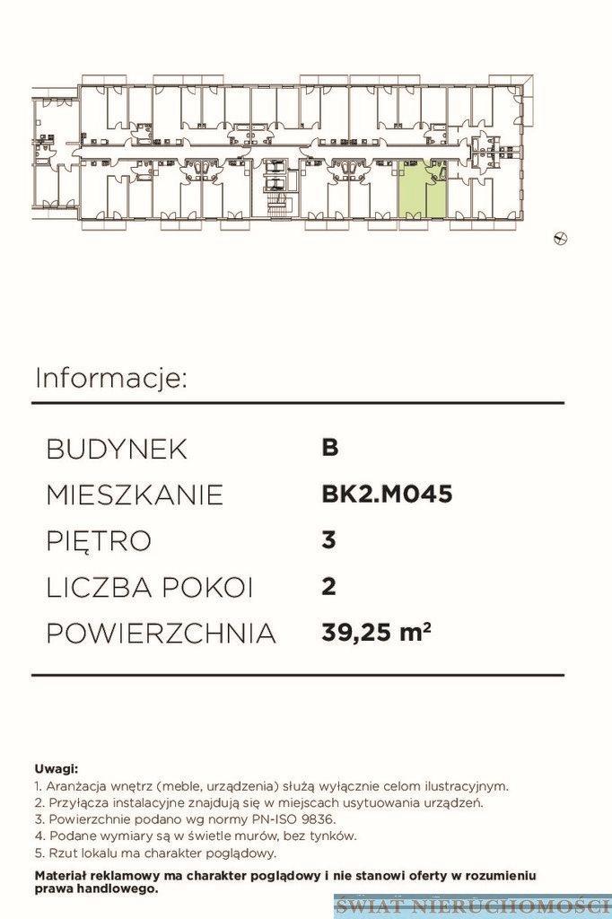 Mieszkanie dwupokojowe na sprzedaż Wrocław, Śródmieście  39m2 Foto 3