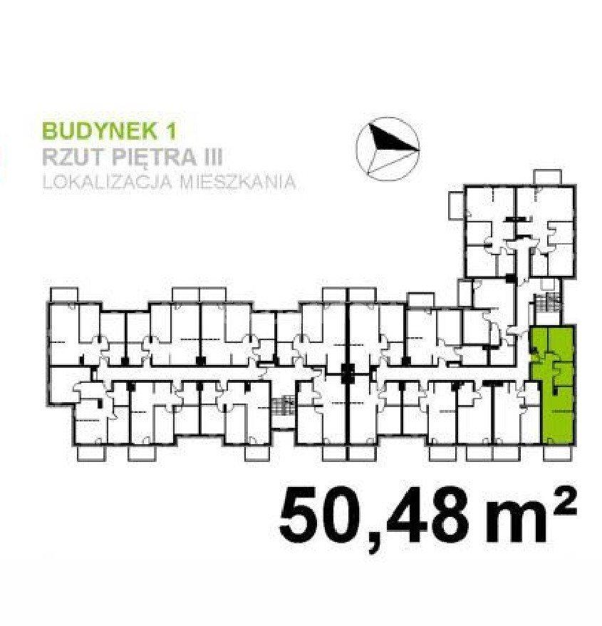 Mieszkanie trzypokojowe na sprzedaż Wrocław, Klecina  51m2 Foto 3