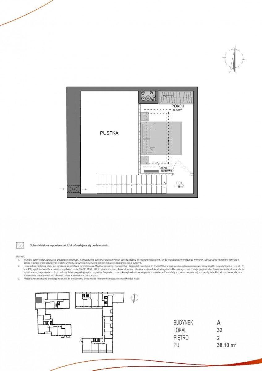 Mieszkanie dwupokojowe na sprzedaż Gdańsk, Wrzeszcz, Adama Mickiewicza  38m2 Foto 10