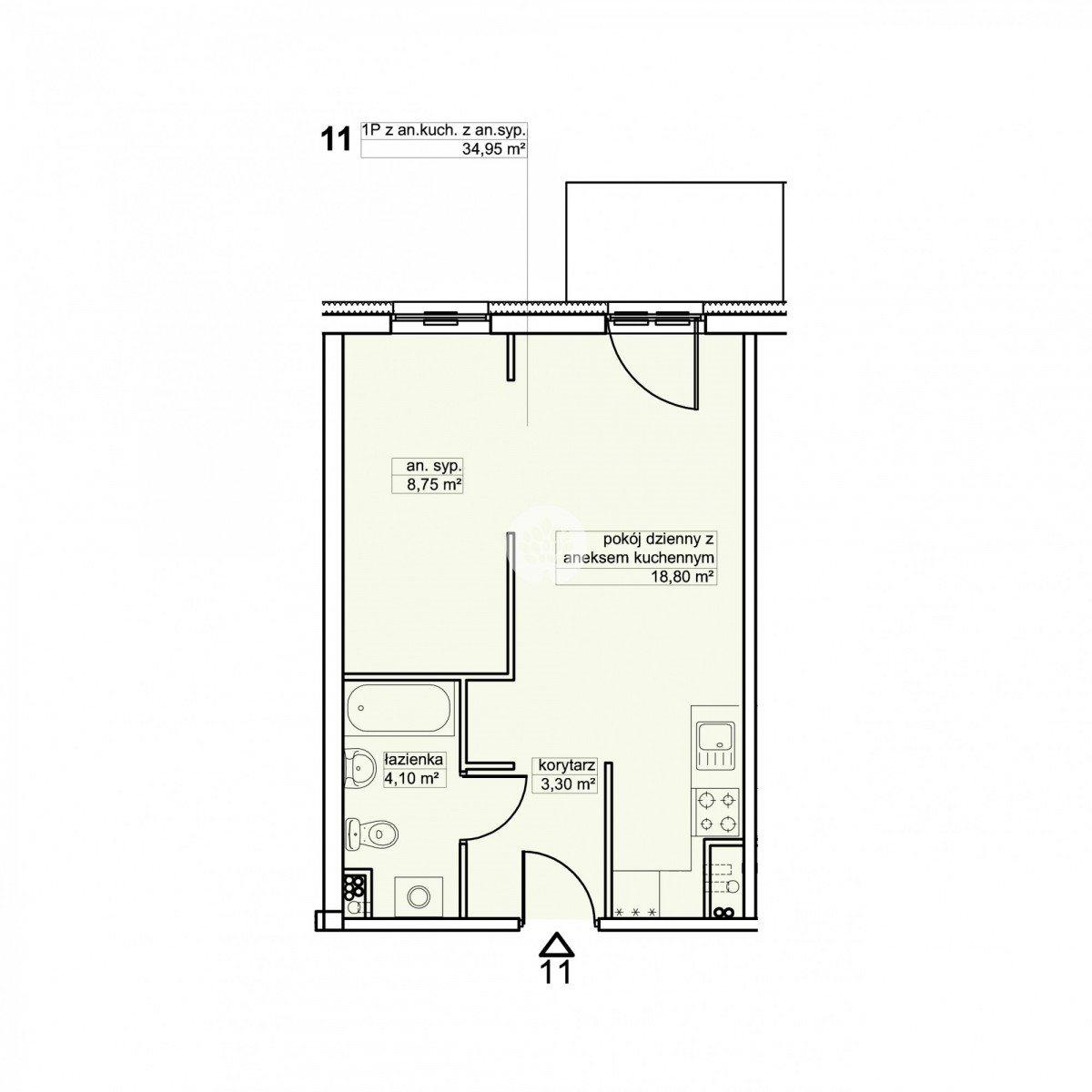 Mieszkanie dwupokojowe na sprzedaż Bydgoszcz, Śródmieście, Garbary  35m2 Foto 2