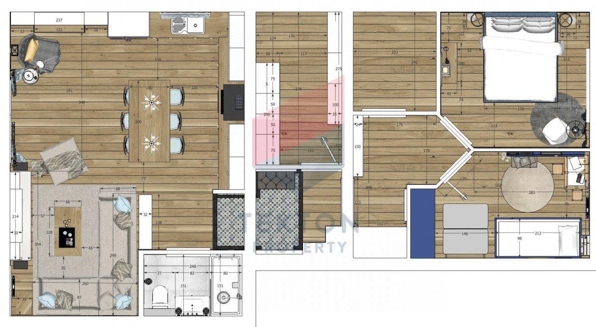 Mieszkanie czteropokojowe  na sprzedaż Gdynia, Orłowo, Bernadowska  88m2 Foto 3