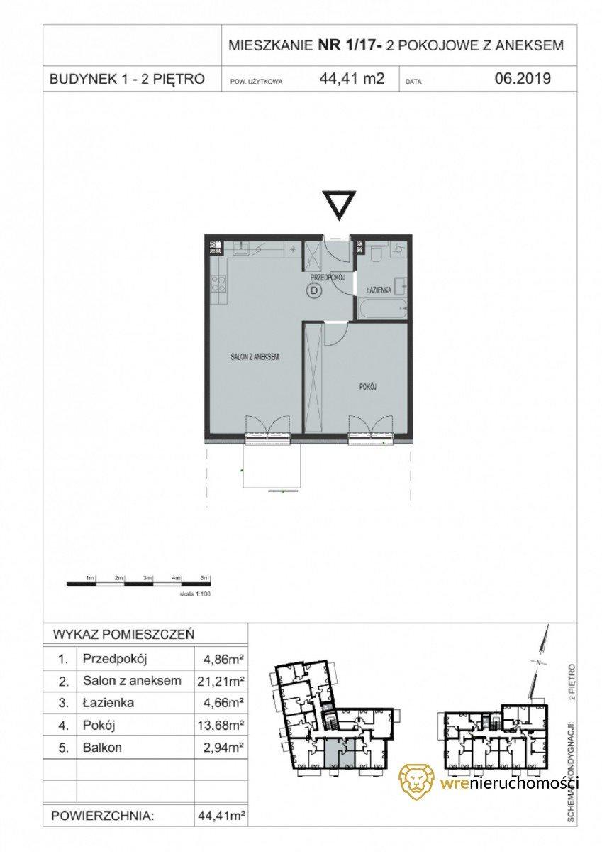 Mieszkanie dwupokojowe na sprzedaż Wrocław, Tarnogaj, Gazowa  44m2 Foto 7