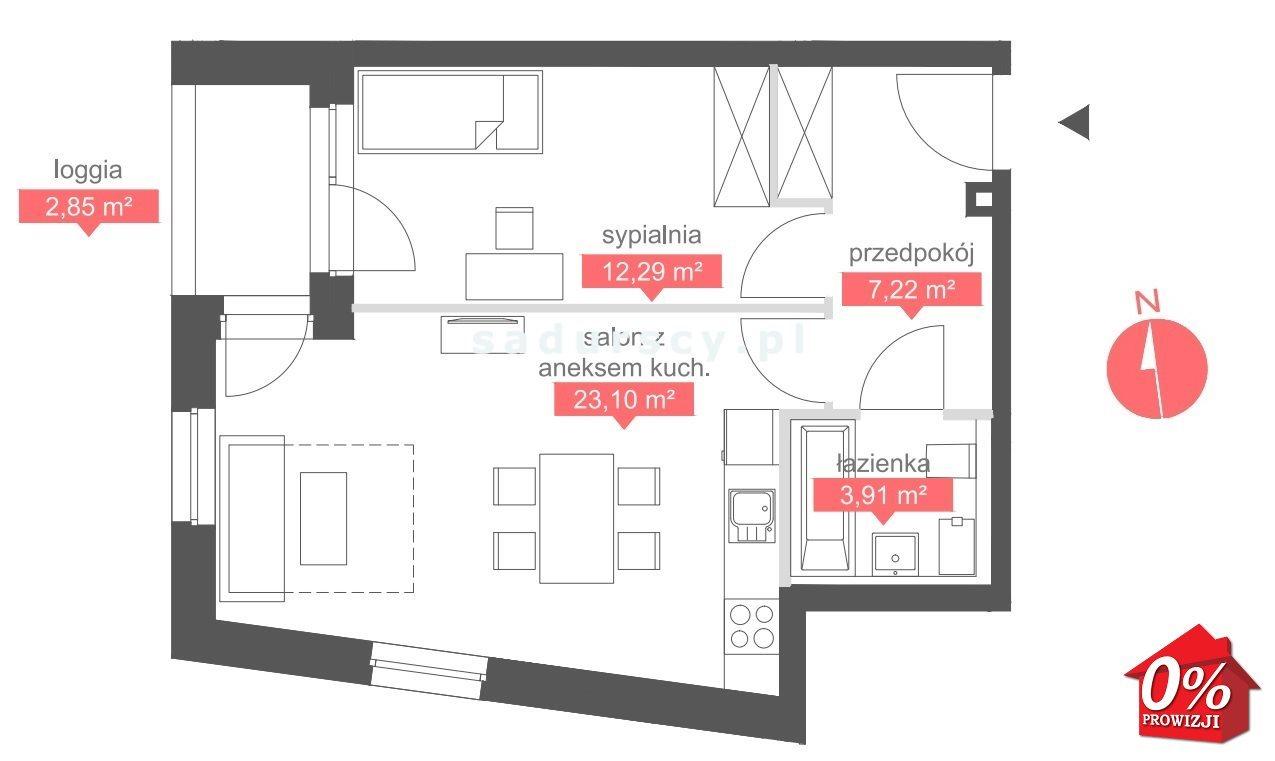 Mieszkanie dwupokojowe na sprzedaż Kraków, Bronowice, Bronowice Małe, Bronowicka  47m2 Foto 3