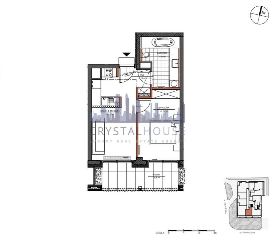 Mieszkanie dwupokojowe na sprzedaż Warszawa, Śródmieście, Górnośląska  40m2 Foto 9