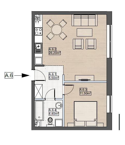 Mieszkanie dwupokojowe na sprzedaż Police  47m2 Foto 1