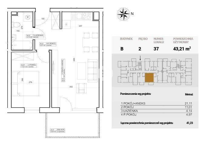 Mieszkanie dwupokojowe na sprzedaż Bydgoszcz, Szwederowo, Horodelska  43m2 Foto 6