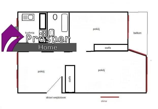 Mieszkanie trzypokojowe na sprzedaż Rzeszów, os. Osiedle Piastów  50m2 Foto 7