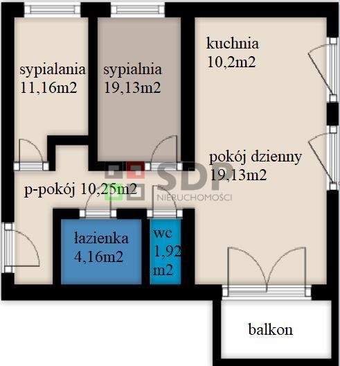 Mieszkanie trzypokojowe na sprzedaż Wrocław, Krzyki, Opolska  66m2 Foto 3