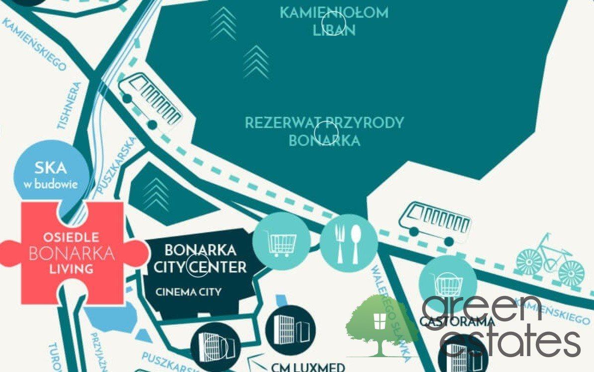 Mieszkanie trzypokojowe na sprzedaż Kraków, Bonarka, Puszkarska  60m2 Foto 2