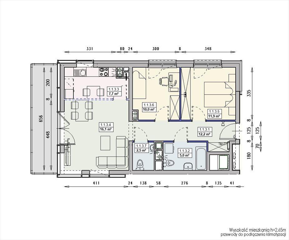 Mieszkanie trzypokojowe na sprzedaż Wrocław, Swojczyce  65m2 Foto 7