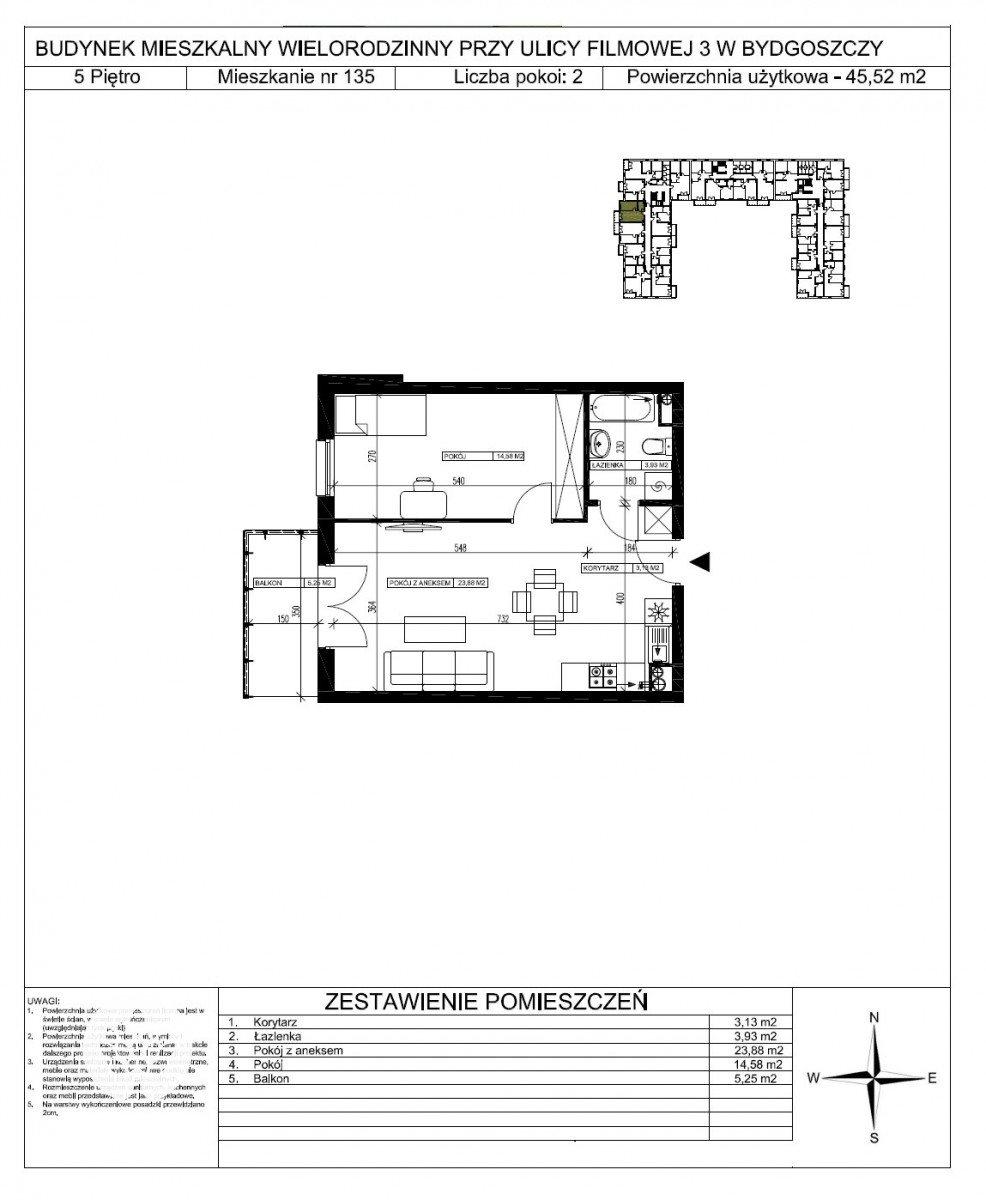 Mieszkanie dwupokojowe na sprzedaż Bydgoszcz, Bartodzieje Małe, Filmowa  46m2 Foto 5