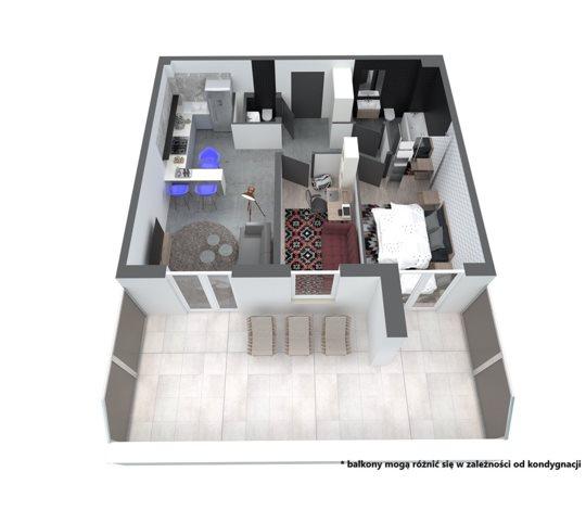 Mieszkanie trzypokojowe na sprzedaż Rzeszów, Ignacego Paderewskiego  60m2 Foto 4