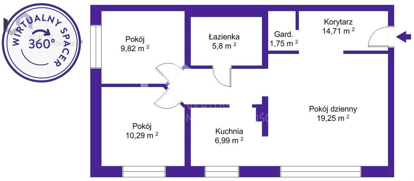 Mieszkanie trzypokojowe na sprzedaż Katowice, Dolina Trzech Stawów, Paderewskiego  69m2 Foto 12