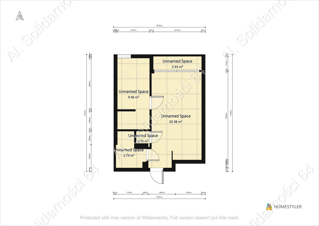 Mieszkanie dwupokojowe na sprzedaż Warszawa, Śródmieście, Al. Solidarności 64  35m2 Foto 6