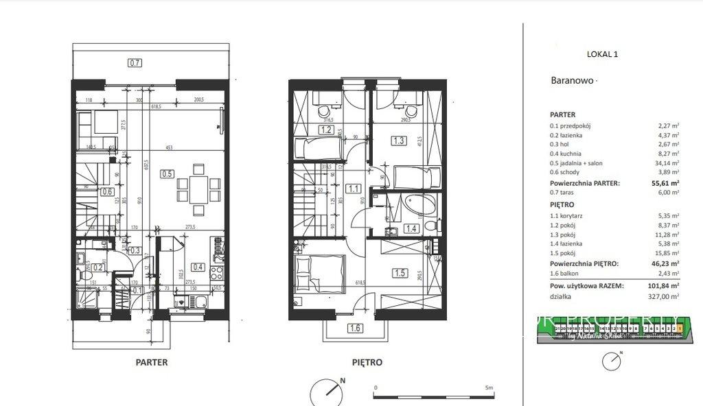 Dom na sprzedaż Baranowo  102m2 Foto 5