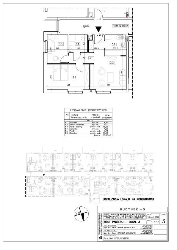 Mieszkanie trzypokojowe na sprzedaż Ostrów Wielkopolski, Zębcowska  59m2 Foto 4