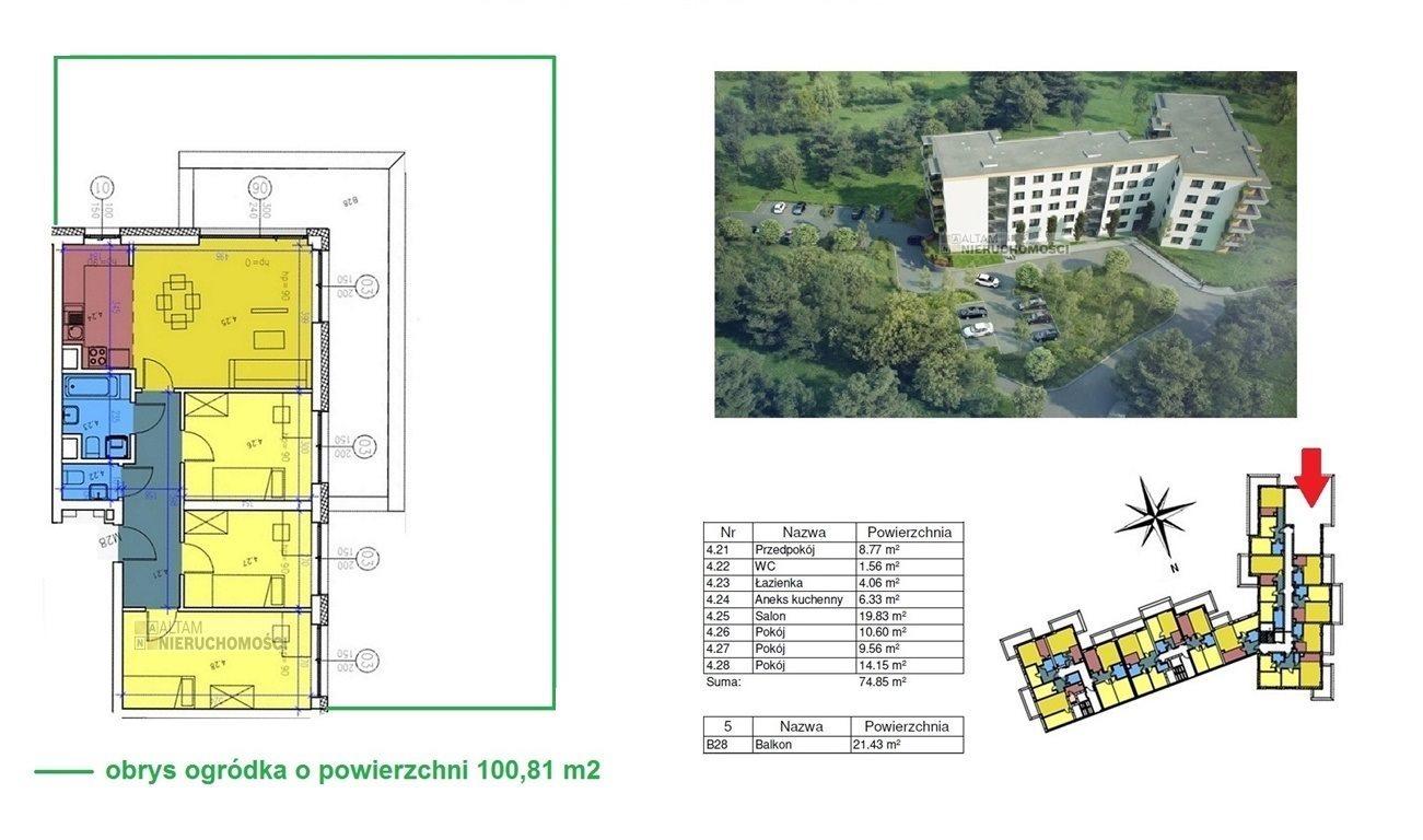 Mieszkanie czteropokojowe  na sprzedaż Kraków, Czyżyny  74m2 Foto 1