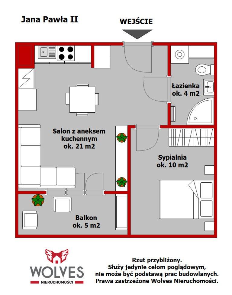 Mieszkanie dwupokojowe na sprzedaż Białystok, Wysoki Stoczek, al. Aleja Jana Pawła II  34m2 Foto 11