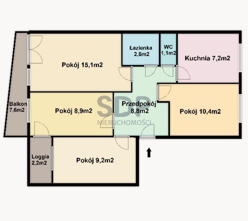 Mieszkanie czteropokojowe  na sprzedaż Wrocław, Fabryczna, Popowice, ok. Legnickiej  63m2 Foto 1