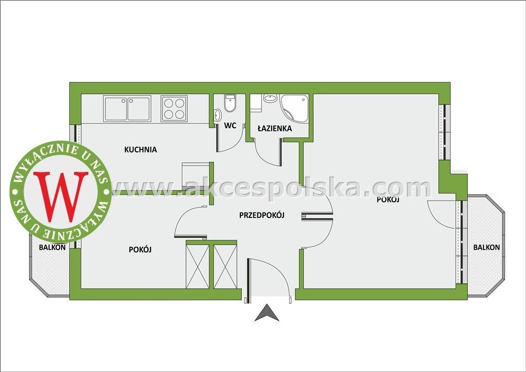 Mieszkanie dwupokojowe na sprzedaż Warszawa, Ochota, Rakowiec  58m2 Foto 3