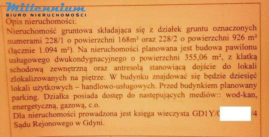 Działka przemysłowo-handlowa na sprzedaż Gdynia, Witomino, Rolnicza  1094m2 Foto 8