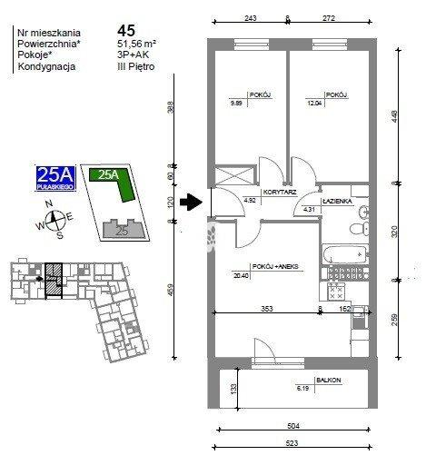 Mieszkanie trzypokojowe na sprzedaż Bydgoszcz, Bartodzieje Wielkie, Kazimierza Pułaskiego  52m2 Foto 3