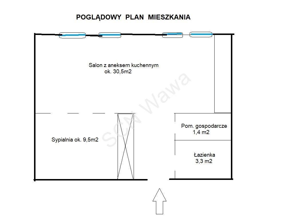 Mieszkanie dwupokojowe na sprzedaż Warszawa, Wola, al. Jana Pawła II  49m2 Foto 10