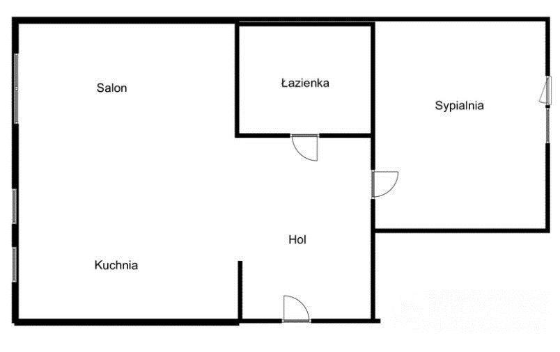 Mieszkanie dwupokojowe na wynajem Gdańsk, Chełm, Witolda Grabowskiego  47m2 Foto 11