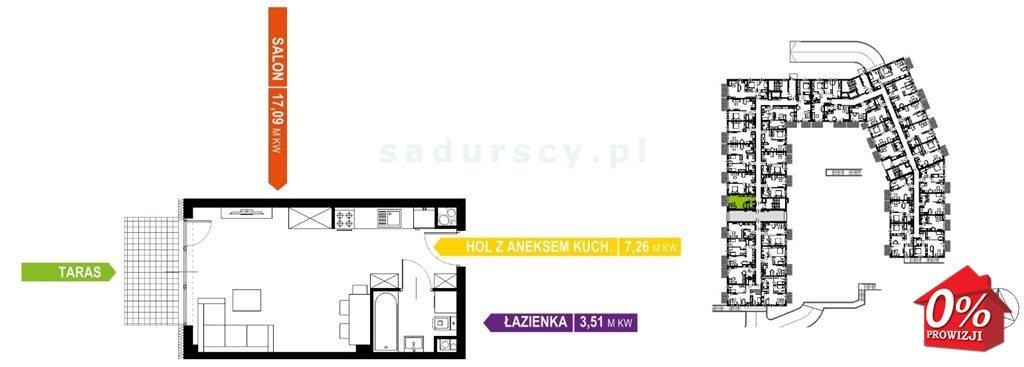 Kawalerka na sprzedaż Kraków, Prądnik Biały, Prądnik Biały, Kazimierza Wyki - okolice  28m2 Foto 6