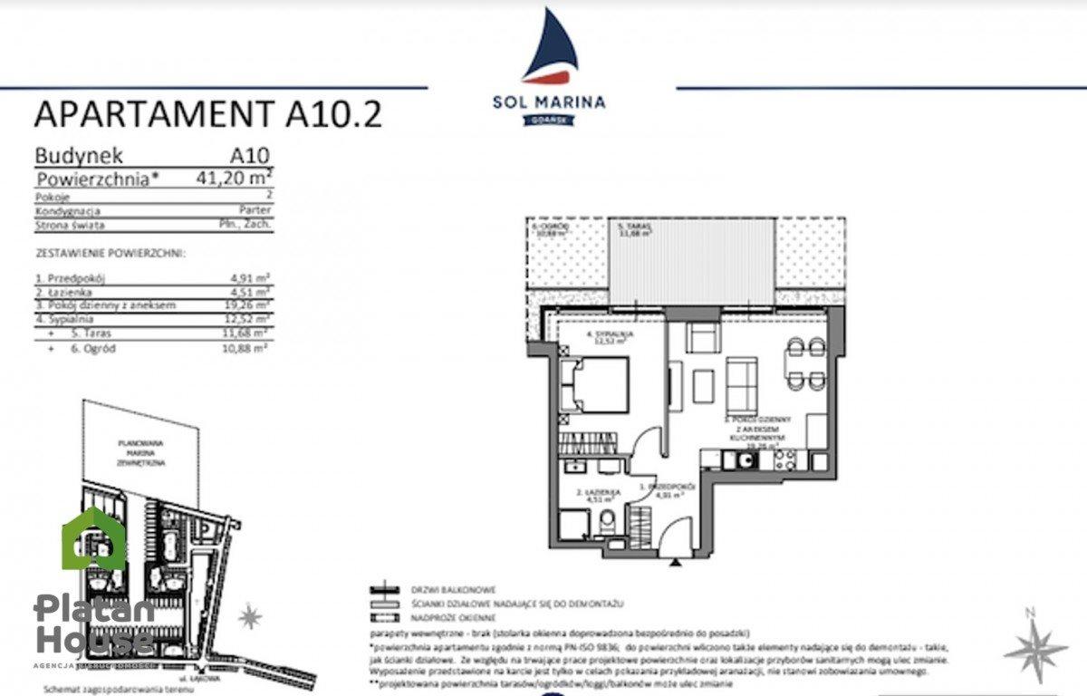 Mieszkanie dwupokojowe na sprzedaż Gdańsk, Sobieszewo, Łąkowa  41m2 Foto 6