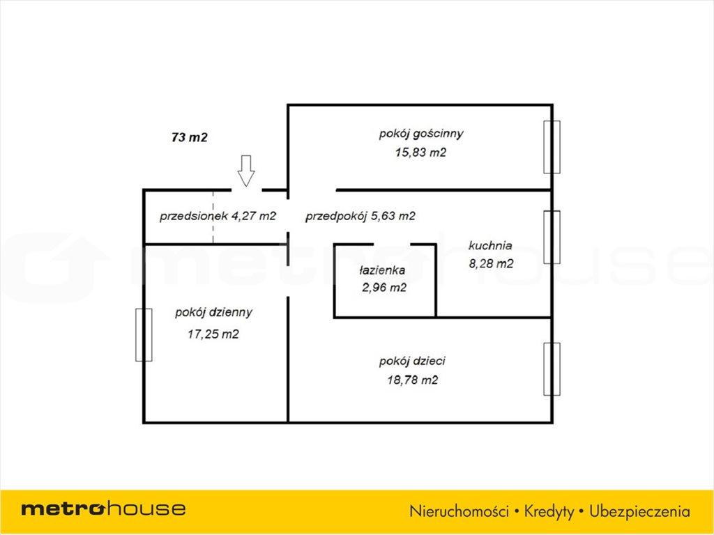 Mieszkanie trzypokojowe na sprzedaż Bytom, Śródmieście, Estreichera  73m2 Foto 3