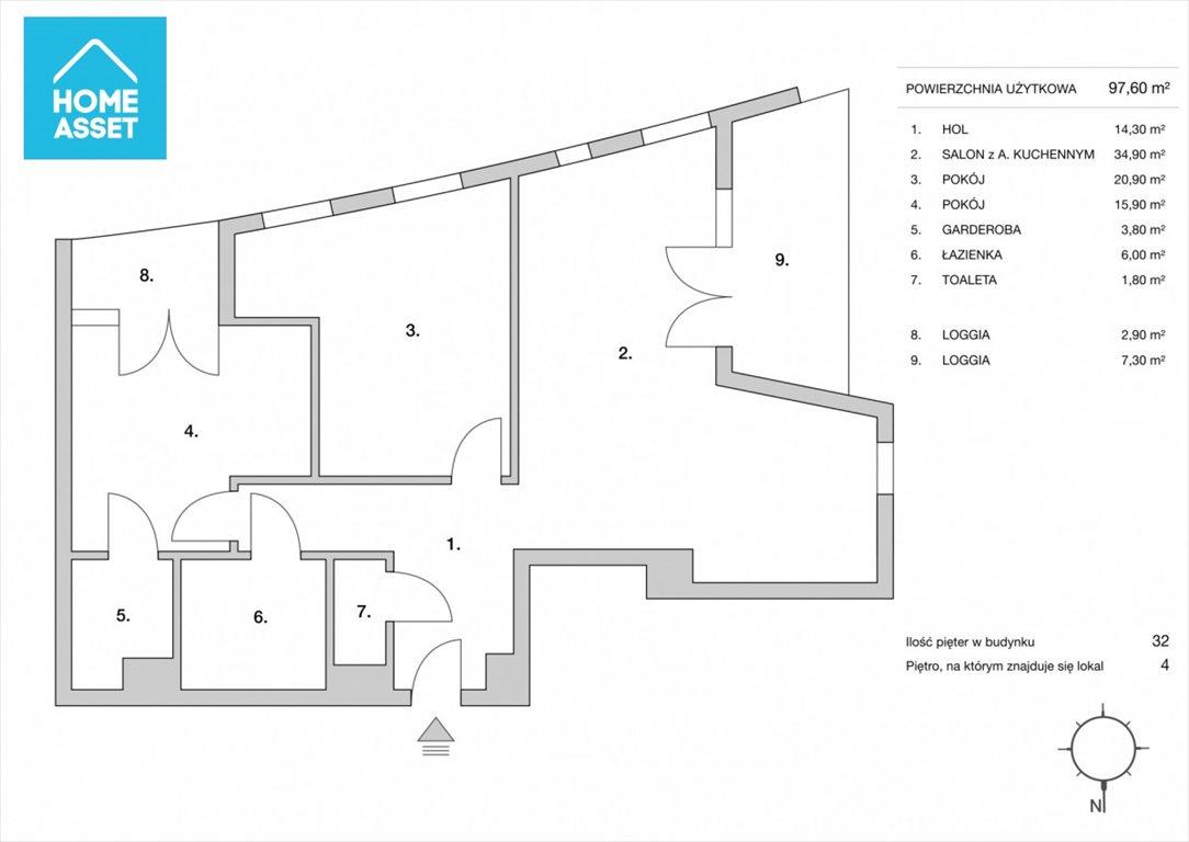 Mieszkanie trzypokojowe na sprzedaż Gdynia, Śródmieście, A. Hryniewickiego  98m2 Foto 4