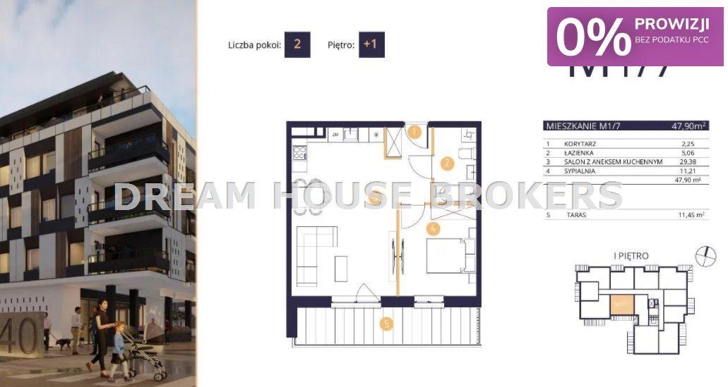 Mieszkanie dwupokojowe na sprzedaż Rzeszów, Drabinianka, Strażacka  48m2 Foto 1