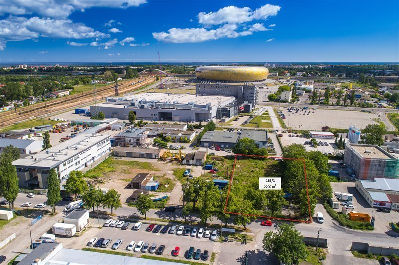 Działka inwestycyjna na sprzedaż Gdańsk, Letnica, Narwicka  2083m2 Foto 1