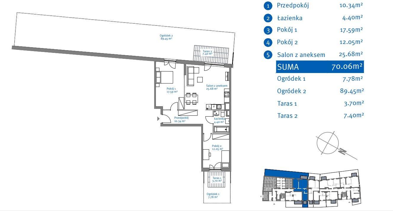 Mieszkanie trzypokojowe na sprzedaż Warszawa, Bemowo, Nowe Górce, Grodkowska  70m2 Foto 14