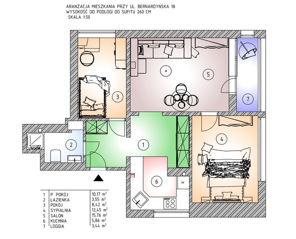 Mieszkanie trzypokojowe na sprzedaż Warszawa, Mokotów, Dolny Mokotów, Bernardyńska 18  55m2 Foto 2
