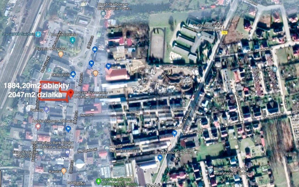 Lokal użytkowy na sprzedaż Świdwin  1884m2 Foto 1