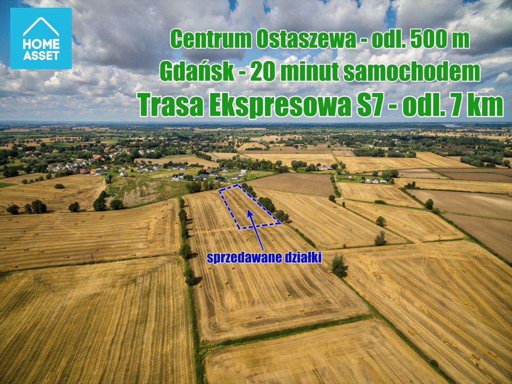Działka budowlana na sprzedaż Ostaszewo, Makowa  1054m2 Foto 3