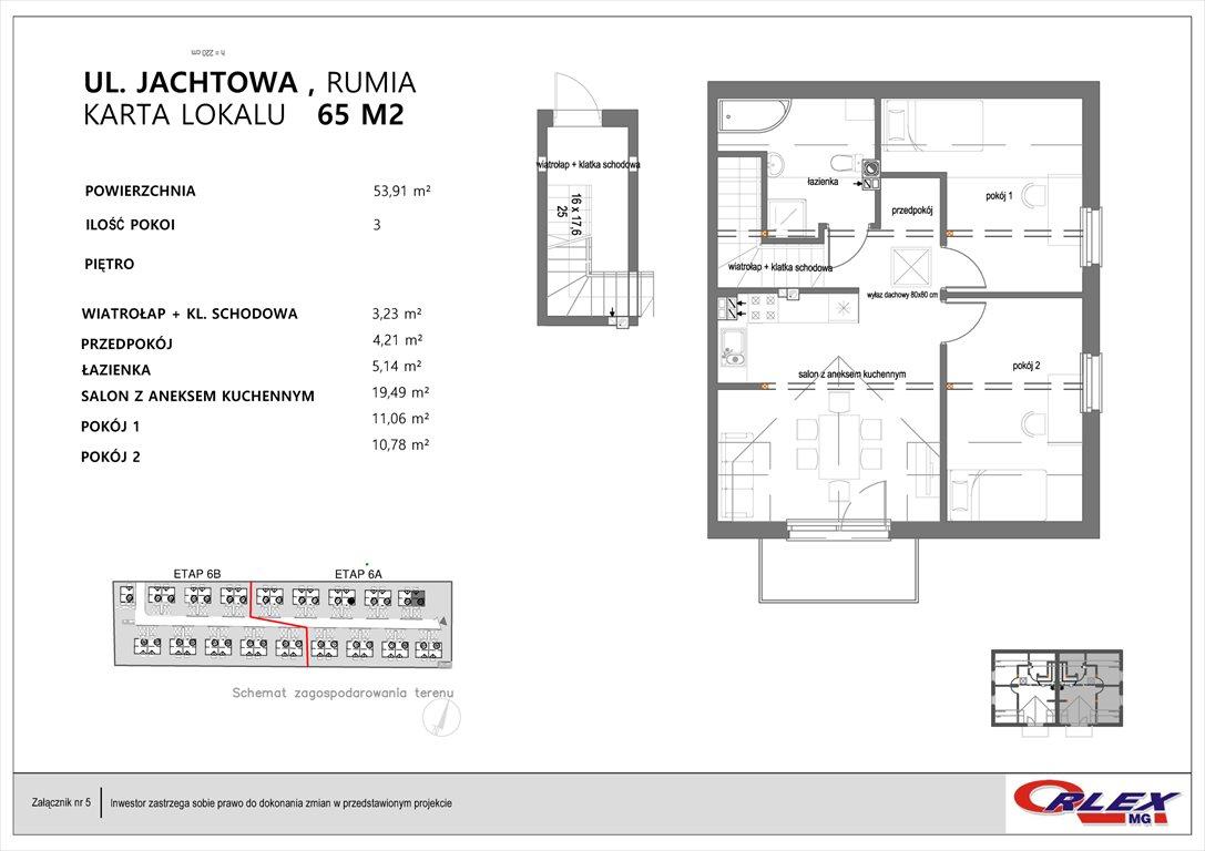Mieszkanie trzypokojowe na sprzedaż Rumia, JACHTOWA 101-131  54m2 Foto 6