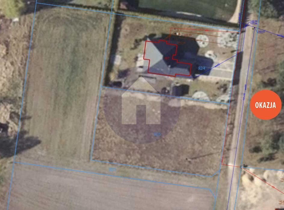 Działka budowlana na sprzedaż Jędrzychów  1500m2 Foto 1