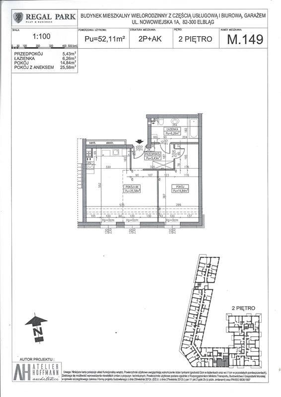 Mieszkanie dwupokojowe na sprzedaż Elbląg, Regal Park, Regal Park, Nowowiejska 1A  52m2 Foto 7