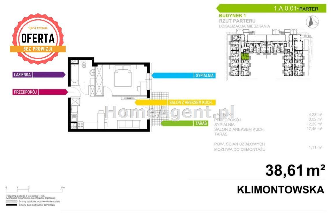 Mieszkanie dwupokojowe na sprzedaż Sosnowiec, Klimontów, Klimontowska  39m2 Foto 8