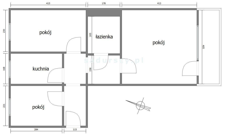 Mieszkanie trzypokojowe na sprzedaż Kraków, Mistrzejowice, Mistrzejowice, os. Tysiąclecia  47m2 Foto 3