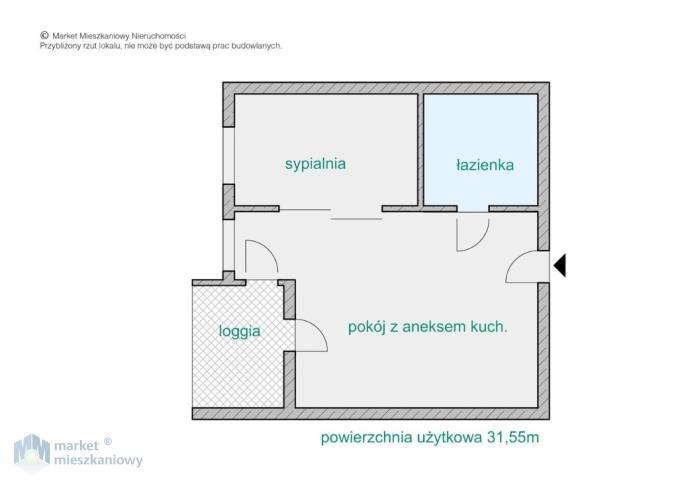 Mieszkanie dwupokojowe na sprzedaż Warszawa, Mokotów, Służewiec, Kłobucka  32m2 Foto 11