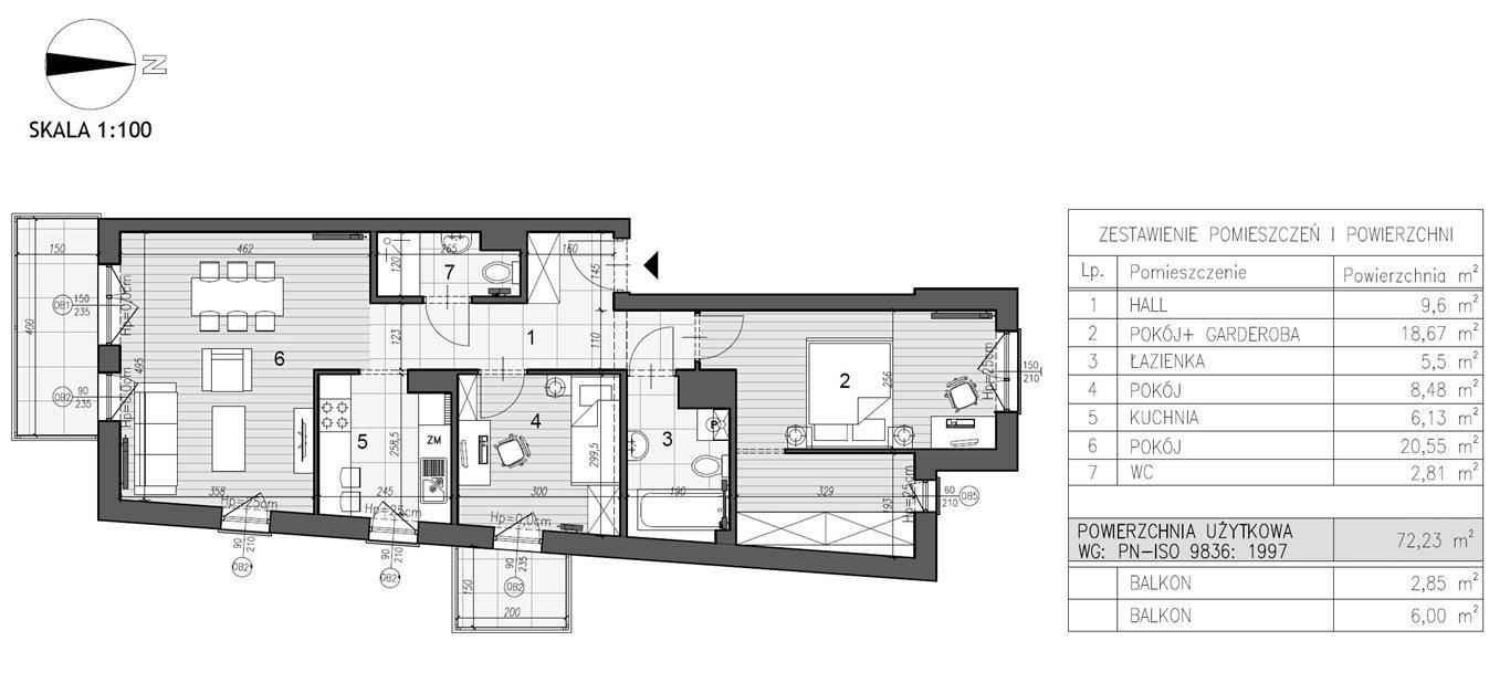 Mieszkanie trzypokojowe na sprzedaż Kielce, Szydłówek  72m2 Foto 7