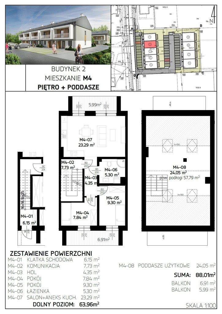 Mieszkanie czteropokojowe  na sprzedaż Rzeszów, Aroniowa  88m2 Foto 7