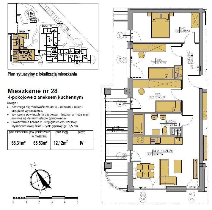 Mieszkanie czteropokojowe  na sprzedaż Bydgoszcz, Bielawy, Jana Karola Chodkiewicza  68m2 Foto 5