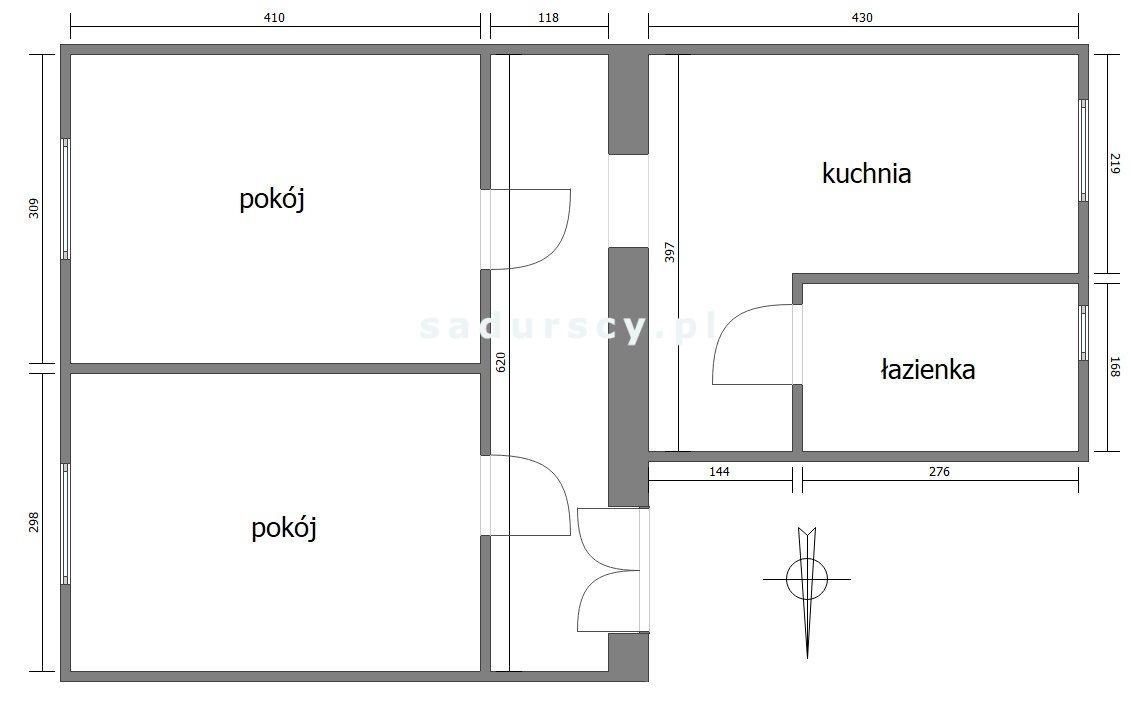 Mieszkanie dwupokojowe na sprzedaż Kraków, Podgórze, Stare Podgórze, Plac Wolnica  51m2 Foto 3